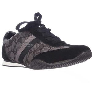 Coach Kelson Black/Gray/Signature Suede Sneakers